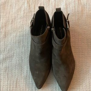Gray suede booties 8.5M